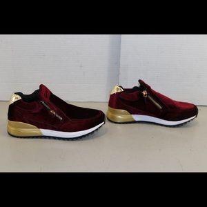 Shoes - Women's Burgundy Velvet SNKR Project Shoes 6